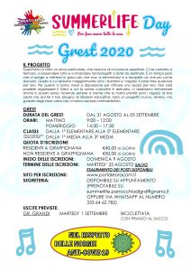 Summerlife Day - Grest 2020 @ Oratorio San Giovanni Bosco di Graffignana