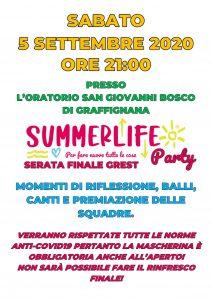 Serata Finale - Summerlife Party @ Oratorio San Giovanni Bosco di Graffignana